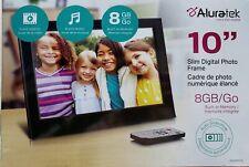 """ALURATEK 10"""" SLIM DIGITAL PHOTO FRAME BLACK 8GB/Go BRAND NEW"""