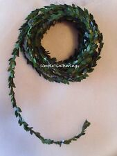 "MINIATURE BOXWOOD GARLAND 15 Ft x 1/2"" Wired Rope Wedding Doll Houses Christmas"