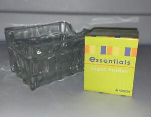 Home Essentials Glass Sugar Packet Holder New