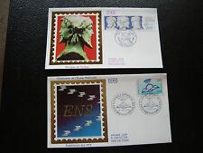 FRANCE - 2 enveloppes 1er jour 1988 (ecole sup/hermes bicephale) (cy78) french