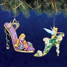 Tinker Bell and Rapunzel Set 9 Disney Once Upon a Slipper Shoe Ornament Set of 2