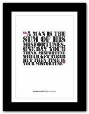 WILLIAM FAULKNER The Sound and the ❤ typography book quote poster art print #246