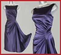 Karen Millen Purple Marilyn Monroe Style Flare Tea Cocktail Party Dress UK10  38
