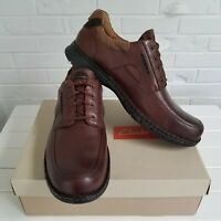 Clark's Un.bend Casual Brown Leather Lace Up Oxford 17M Lambskin Lining NIB