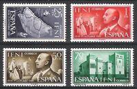 SPANISH COLONIES - IFNI - 1961 XXV YEARS OF GENERAL FRANCO Edifil 179 - 182 MNH