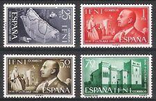 Colonias Españolas-IFNI - 1961 XXV años del General Franco Edifil 179 - 182 estampillada sin montar o nunca montada