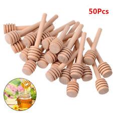50Pcs Honey Wood Dipper Drizzler 8/10/10.5/15/16cm Mini Large Stirring Rod Stick