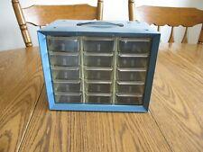 15 Drawer Akro Mils Metal Cabinet With Plastic Drawers Storage