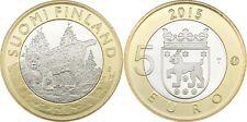 5 EURO FINLANDE 2015 UNC - LYNX BOREAL