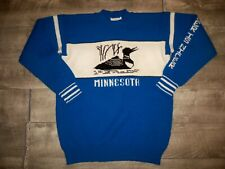 New listing Vintage Sweatshirt Blue Men's Sz Large Pullover Sweater Minnesota Loon Spell Out