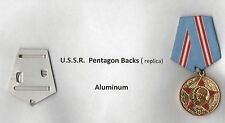 Soviet Pentagon metal mounting for one medal  complete - Aluminum