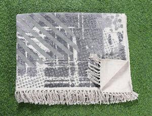 4x6 ft Handmade Cotton Carept Floor Area Rug Gray Dari Rug Home Decor Modern Rug