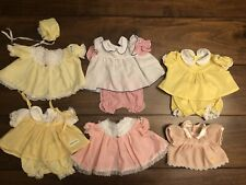 Lot of 6 Authentic Vintage Cabbage Patch Kids Outfits-Girl CLEAN (CP2)