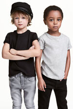 Boy's Kids Ex H&M R Neck Tshirts in organic 100% cotton Plain Solid Color jersey