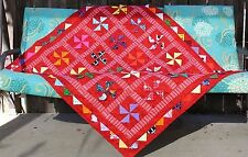 """New Red Cute Lady Bugs Handcrafted In Us Baby Lap Crib. Quilt 46"""" X 52"""""""