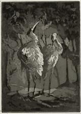 ISABEL BEATRICE MESHAM Signed Aquatint Etching TWO BIRDS POSSIBLY HERONS