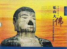 LESHAN GRAND BUDDHA BOOK containing 3 SOUVENIR SHEETS, 2 FIRST DAY COVERS,
