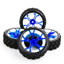 4Pcs RC Rubber Tire 73mm Plastic Rim 12mm Hex Wheels For 1:10 Rally Car