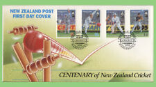 New Zealand 1994 Centenary of Cricket on two First Day Covers