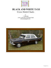 BLACK AND WHITE TAXI - CROSS STITCH CHART