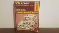 Haynes Manuals: VW Rabbit, Jetta, Scirocco and Pickup, 1975-1992 No. 884 by John