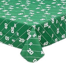 "Football Vinyl Table Cover 72""x 52"" Game Day  Disposable Tailgating Tablecloth"