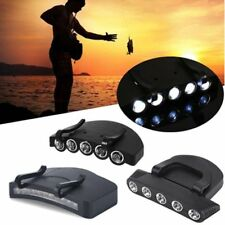 2 Modes Black Clip On Head Light 5 LED Torch Cap Hat Lamp