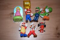 7x Super Mario McDonalds Happy Meal Figures Toys Nintendo bundle Luigi Yoshi B#2
