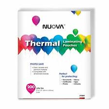 Nuova Premium Thermal Laminating Pouches 9 X 115letter Size3 Mil 200 Pac