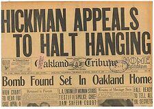 William Edward Hickman Appeals to Halt Hanging Original March 22 1928 B1