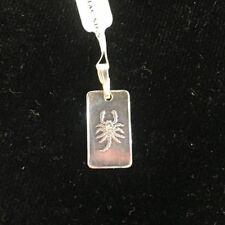 NEW Scorpio Sterling Silver Zodiac Pendant 999 Horoscope Charm S/S Scorpion