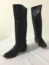 Samanthax Boots Soft Black Leather Size 6M