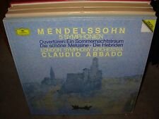 ABBADO / MENDELSSOHN 8 symphonien ( classical ) 4lp box dgg - digital -