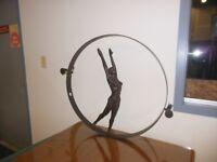 New Global Views Olympian Woman Gymnast Iron Metal Wall Mounted Art Sculpture