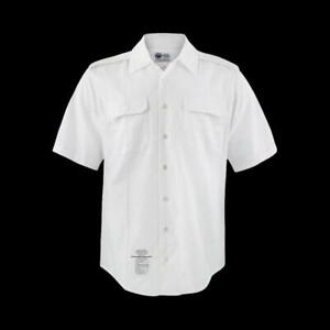 NEW U.S MILTARY ISSUE ARMY MEN'S WHITE DRESS SHIRT SHORT SLEEVE LARGE, X-LARGE