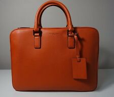 Michael Kors Men's Russell Large Leather Burnt Orange Briefcase