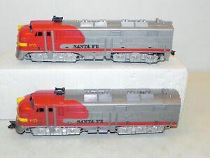 Marx O Ga. #1095 Santa Fe A-A Diesel Locomotives Powered & Dummy RUNS