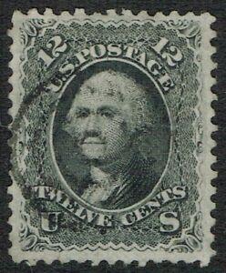 USA 1861 SG65a/Sc.69 12c Black VFU. Cat. £120.00++