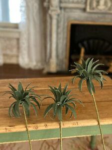 Vintage Miniature Dollhouse Nancy Barnett Fronds Ferns Plants Gardening Potting