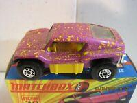 1970 Matchbox Superfast Polka-dot Beach Dune Buggy #30 Short Exhaust MIB