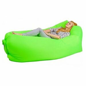 Bry Inflatable Lounger Air Chair Sofa Bed Sleeping Bag Couch for Beach 02green