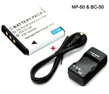 Battery +Charger for Fujifilm FinePix REAL 3D W3 X10 X20 XP100 XP110 XP150 XP160