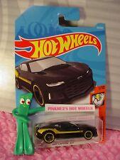 2017 CAMARO ZL1 #312✰black;yellow mc5✰MUSCLE MANIA✰2018 i Hot Wheels WW case N/P