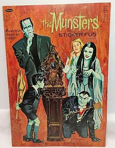 1965 Munsters Sticker Fun Sticker Book Whitman Publishing Original & Uncut!
