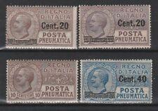 FRANCOBOLLI - 1913/25 REGNO POSTA PNEUMATICA MNH Z/8076