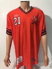 NEW Virginia Cavaliers Rawlings Baseball Jersey #21 Orange Men's Size Large