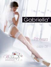 nylonandmore Gabriella halterlose Strümpfe Calze Princessa 06 20DEN Code190 Weiß