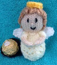 Knitting Pattern-NOËL ANGE GARDIEN chocolat COVER FITS Ferrero Rocher