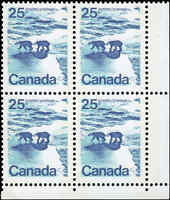 Mint Canada 25c 1972 VF TAGGED NF Block of 4 Scott #597 Stamps Never Hinged