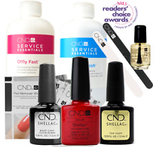 CND Shellac Starter Kit, Top/Base/Essentials/Color Hollywood